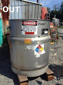 Clawson Container 304l Stainless Steel Chemical Storage Tank 275 Gallons