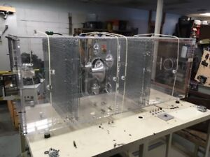 Air Flow Test Stand Plexiglas Case Box With Plenums Cool Steampunk Table