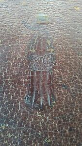 Old Distressed Leather Coca Cola Wallet