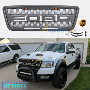 For Ford 2004 2008 F150 Raptor Abs Led Front Grille With Fr Lights F