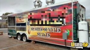 8 X 24 Mobile Kitchen Ice Cream Concession Trailer For Sale In Montana