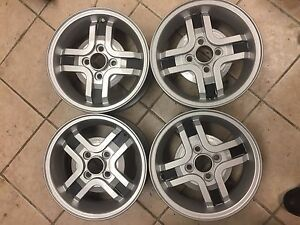 1 Set Of 4 Refinished 13 X 5 Cerchi Fiat Lancia Strada Cromodora Wheels