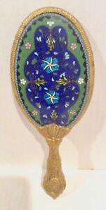Japanese Cloisonn Hand Mirror Art Nouveau Antique