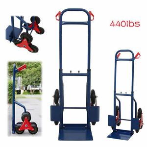 Dolly Heavy Duty Stair Climbing Moving Hand Truck Warehouse Appliance Cart 440lb