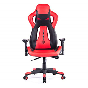 Simlife Computer Gaming Racing Chair Office Swivel Leather High back Executive
