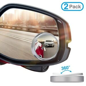 Full Adhensive Car Rearview Blind Spot Side Rear View Convex Mirror 2 Pack