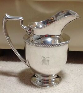 Vintage Sterling Silver Fisher 2010 Water Pitcher