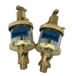 New Pair Of Headstock Drip Feed Oilers For Myford Ml7 Lathes Direct From Myford