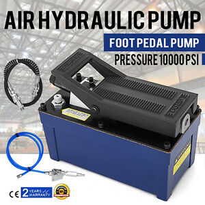 Air Powered Hydraulic Pump 10 000 Psi Power Foot Auto Repair Oil Rigging Aw 46