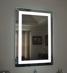 Front lighted Led Bathroom Vanity Mirror 28 X 36 Rectangular Wall mounted