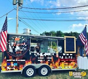 2010 8 X 16 Bbq Concession Trailer Smoker For Sale In Massachusetts