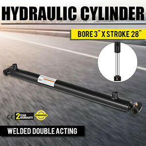 Hydraulic Cylinder For Loader Welded Double Acting 3 Bore 28 Stroke 3x28