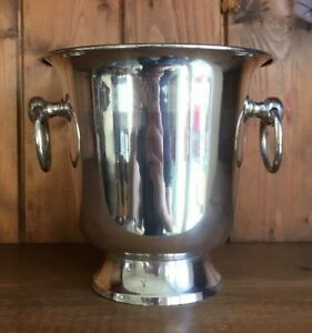 Vintage Silver Plate Ice Bucket Wine Cooler Silver Ice Bucket Wine Cooler