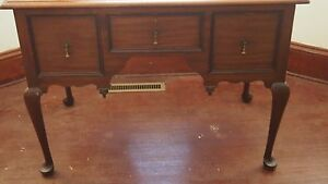 Queen Anne Centennial Mahogany Low Boy Reproduction Mid Century