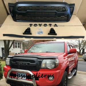 2005 2011 Front Bumper Grille Black For Tacoma Trd Pro Grill With Letters