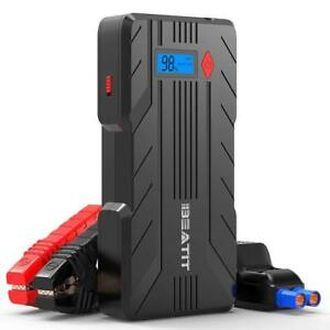 1200a Peak 16500mah 12v Portable Car Jump Starter Power Up 8 0l Gas 6 0l Diesel