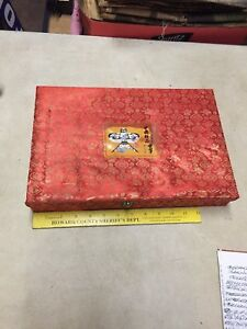 Vintage Chinese Boutique Kite Silk Lined Display Box
