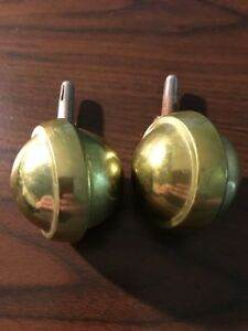 Vintage Industrial Casters Wheels Shepherd Brass Rollers Lot 17