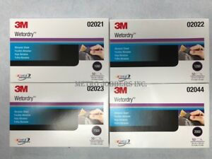 3m 1000 1200 1500 2000 Grit Wet Or Dry Sandpaper 5 5 x 9 1 Box Each 200 Sheets