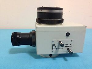 Olympus Microscope Camera Attachment Pm pb20 W Olympus Lens And Adapter