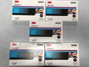 3m 1000 1200 1500 2000 2500 Grit Wet Or Dry Sandpaper 5 5 x 9 5 Boxes Total