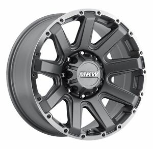 4 New 18x9 10 Mkw Offroad M94 Anthracite Grey Wheels Rims 8x165 1