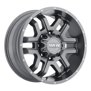 4 New 20x9 10 Mkw Offroad M93 Anthracite Grey Wheels Rims 8x180