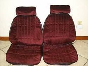 1985 88 Monte Carlo Front Bucket Seat Upholstery Claret