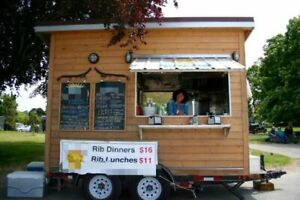 Solar Powered Food Concession Trailer used Mobile Kitchen Unit For Sale In Briti