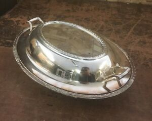 Vintage International Silverplate Silver Plated Butter Dish With Floral Design
