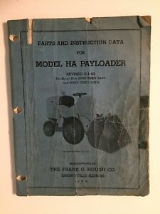 Ih Hough Ha Front end Wheel Pay Loader Tractor Operator s Manual
