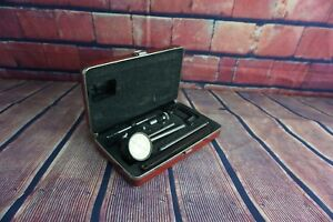 Starrett No 645 Heavy Duty Dial Test Indicator Complete Set case Euc Free Sp