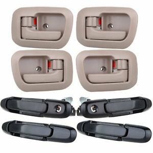 8pcs Front Rear Lefright Inside Outside Door Handles For 98 03 Toyota Sienna