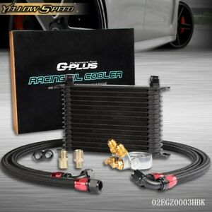 Gplus 15 Row An10 Thermostat Adaptor Engine Oil Cooler Kit 2 Nylon Oil Lines