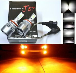 Led Kit C6 72w H11 Orange Amber Two Bulbs Fog Light Replacement Upgrade Lamp Oe