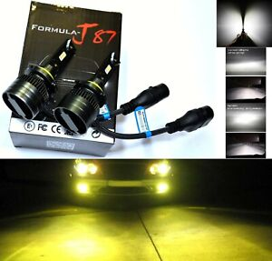 Led Kit G8 100w H10 9145 3000k Yellow Two Bulbs Fog Light Replace Upgrade Lamp