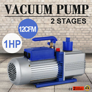 12cfm 2 Stages 1hp Refrigerant Vacuum Pump New Tools Dual Stage Easy Operation