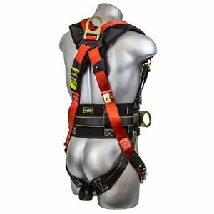 Construction Safety Body Harness Padded Side D Ring Fall Protection