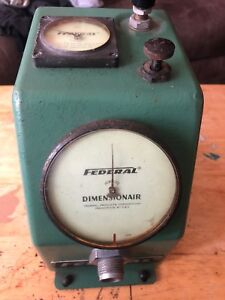 Nice Federal Dimensionair 00005 Air Gage Bore Gage No D 2500 Untested