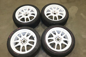 Jdm Genuine Authentic Work Emotion Cr Kai Wheels 5x100 Rims 17x8 Et42 Subaru Wrx