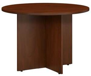 Round Conference Table In Hansen Cherry id 3759087