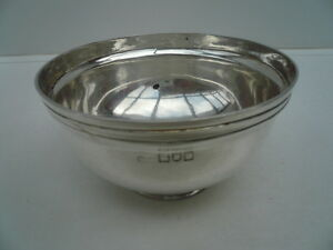 Silver Sugar Bowl Sterling English Antique Hallmarked 1912 George Perkins