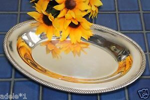 Vintage Wm Rogers International Silverplate 12 1 4 Bread Tray Bowl 819