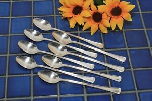 Set Of 8 International Victor Silver Co Norman Iced Tea Spoons 1953 Free Ship