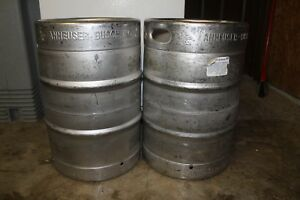 2 Used Commercial Beer Kegs And 2 Taps