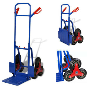 6 wheel Hand Trolley Truck Steel Frame Heavy Duty Industrial Portable Sack Cart
