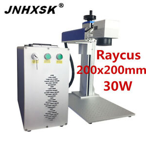 30w 200x200mm Laser Marking Machine Nameplate Jewelry Engraver Stainless Steel