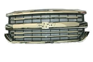For 2016 2017 Chevrolet Silverado 1500 Grille Without Z71 Chrome