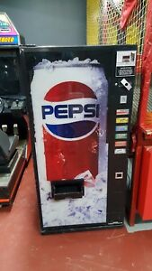 Pepsi Soda Beverage Vending Machine It Vends Cans