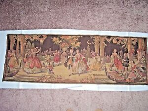 Antique C 1920 S Belgian Tapestry Outdoor Victorian Formal Ball 58 X 19 1 2